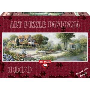 """Art Puzzle (4333) - Peter Motz: """"Cottage Anglais"""" - 1000 pièces"""