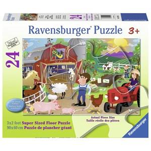 """Ravensburger (05285) - Karen Rossi: """"Farm Mania"""" - 24 pièces"""