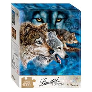 """Step Puzzle (79806) - """"Trouvez 12 Loups!"""" - 1000 pièces"""