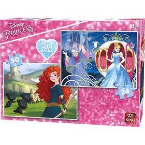 "King International (05416) - ""Disney Princess"" - 24 50 pièces"