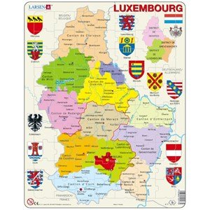"""Larsen (K77) - """"Carte du Luxembourg - FR"""" - 70 pièces"""