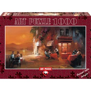 """Art Puzzle (4316) - Willem Haenraets: """"Dîner à Deux"""" - 1000 pièces"""