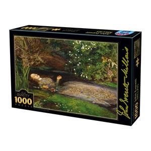 """D-Toys (73815-1) - John Everett Millais: """"Ophelia"""" - 1000 pièces"""