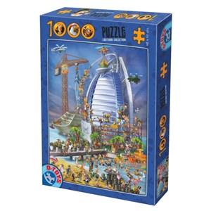"""D-Toys (61218-CC12) - """"Construction du Burj Al Arab"""" - 1000 pièces"""