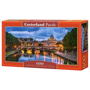 """Castorland (B-060054) - """"Basilique Saint-Pierre, Vatican"""" - 600 pièces"""