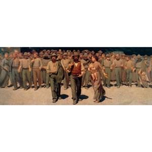 """Ravensburger (19006) - Giuseppe Pellizza: """"Il Quarto Stato 1901"""" - 1000 pièces"""