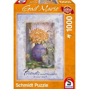 """Schmidt Spiele (59391) - Gail Marie: """"Friends"""" - 1000 pièces"""