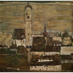 "Grafika (00213) - Egon Schiele: ""Stein sur le Danube II, 1913"" - 1500 pièces"