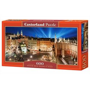 """Castorland (B-060306) - """"Place Principale de Cracovie la Nuit, Pologne"""" - 600 pièces"""