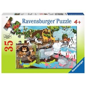 """Ravensburger (08778) - """"Journée au Zoo"""" - 35 pièces"""