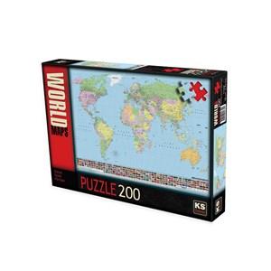 """KS Games (11332) - """"Carte du Monde (en Turc)"""" - 200 pièces"""