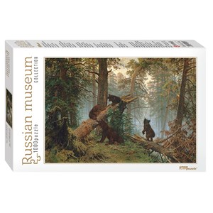 """Step Puzzle (79218) - Ivan Chichkine: """"Morning in a Pine Forest"""" - 1000 pièces"""