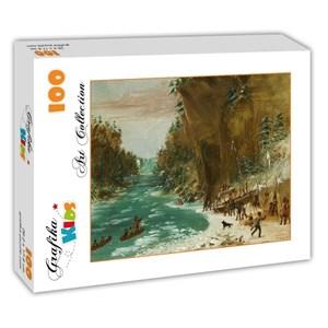"""Grafika Kids (01497) - """"Campement de l'Expedition au-dessous des Chutes de Niagara. Le 20 janvier 1679, 1847"""" - 100 pièces"""