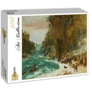 """Grafika (02226) - George Catlin: """"Campement de l'Expedition au-dessous des Chutes de Niagara. Le 20 janvier 1679, 1847"""" - 300 pièces"""