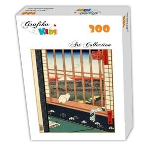 """Grafika Kids (00269) - Utagawa (Ando) Hiroshige: """"Rizières d'Asakusa et Festival Torinomachi, 1857"""" - 300 pièces"""