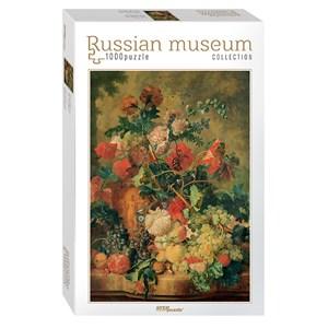 """Step Puzzle (79210) - Jan van Huysum: """"Flowers and Fruit"""" - 1000 pièces"""