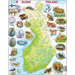 """Larsen (K75) - """"Carte de la Finlande et ses Animaux - FI"""" - 78 pièces"""