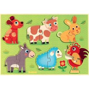 "Djeco (01259) - ""Coucou-cow"" - 12 pièces"