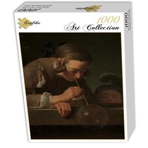 """Grafika (01123) - Jean-Baptiste-Siméon Chardin: """"Les Bulles de Savon, 1739"""" - 1000 pièces"""