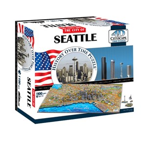 """4D Cityscape (40084) - """"Seattle"""" - 1100 pièces"""
