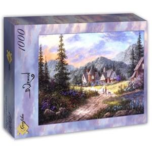 "Grafika (T-00500) - Dennis Lewan: ""Hills Of Bavaria"" - 1000 pièces"