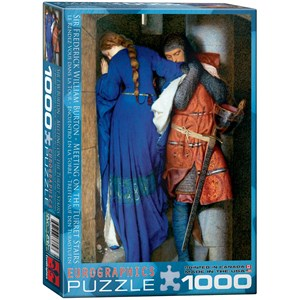 """Eurographics (6000-3682) - Fredrick Burton: """"Rendez-vous sur l'Escalier de Tourelle"""" - 1000 pièces"""