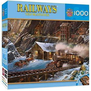 """MasterPieces (71655) - Ted Blaylock: """"When Gold Ran the Rails"""" - 1000 pièces"""