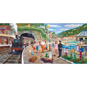 """Gibsons (G4031) - Derek Roberts: """"Seaside Train"""" - 636 pièces"""