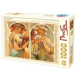 """D-Toys (66930-MU06) - Alphonse Mucha: """"Fruit et Fleur"""" - 1000 pièces"""