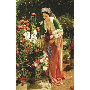 """Puzzle Michele Wilson (A204-350) - John Frederick Lewis: """"In the Bey's Garden"""" - 350 pièces"""