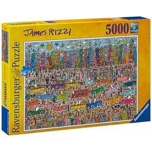 """Ravensburger (17427) - James Rizzi: """"Rien n'est aussi beau que la ville Rizzi"""" - 5000 pièces"""