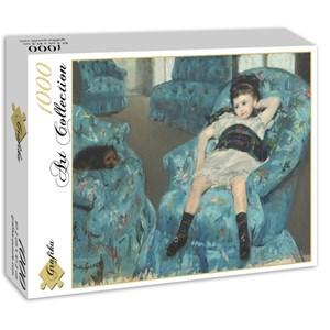 """Grafika (00232) - Mary Cassatt: """"Petite Fille dans un Fauteuil Bleu, 1878"""" - 1000 pièces"""