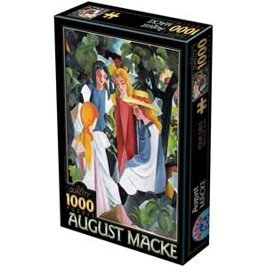"""D-Toys (72863-1) - August Macke: """"Quatre Filles"""" - 1000 pièces"""