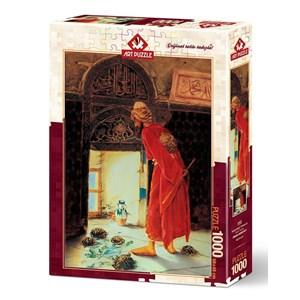 """Art Puzzle (4452) - Osman Hamdi Bey: """"Le Dresseur de Tortues"""" - 1000 pièces"""