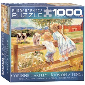 "Eurographics (8000-0450) - Corinne Hartley: ""Kids on a Fence"" - 1000 pièces"
