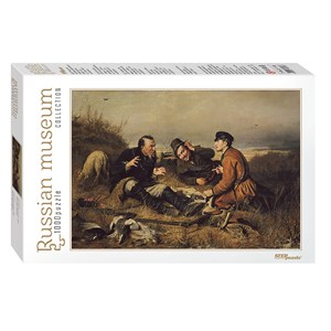 """Step Puzzle (79216) - Vassili Perov: """"Hunters stop to Rest"""" - 1000 pièces"""