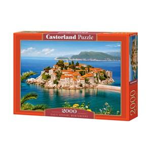 """Castorland (C-200580) - """"Sveti Stefan, Montenegro"""" - 2000 pièces"""