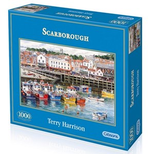 """Gibsons (G6090) - Terry Harrison: """"Scarborough Fishing Harbour"""" - 1000 pièces"""