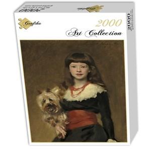 "Grafika (02065) - John Singer Sargent: ""Miss Beatrice Townsend, 1882"" - 2000 pièces"