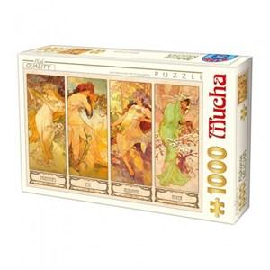 """D-Toys (66930-MU09) - Alphonse Mucha: """"Les 4 saisons"""" - 1000 pièces"""