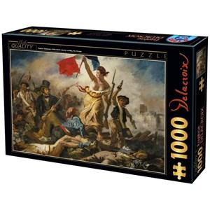 """D-Toys (73808) - Eugene Delacroix: """"La Liberté Guidant le Peuple"""" - 1000 pièces"""