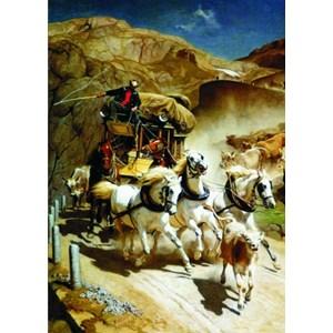 "Gold Puzzle (60379) - Rudolf Koller: ""The Gotthardpost"" - 2000 pièces"