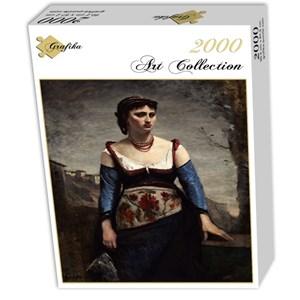 "Grafika (01979) - Jean-Baptiste-Camille Corot: ""Agostina, 1866"" - 2000 pièces"