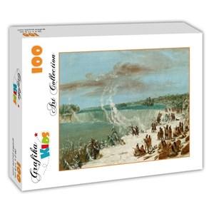 """Grafika Kids (01504) - George Catlin: """"Portage Autour des chutes de Niagara à Table Rock, 1847-1848"""" - 100 pièces"""