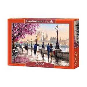 """Castorland (C-200566) - Richard Macneil: """"Along the River"""" - 2000 pièces"""