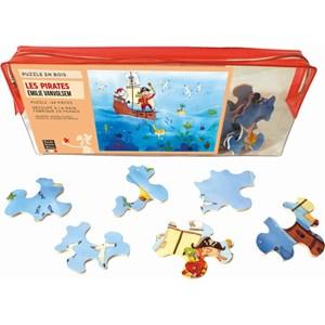 """Puzzle Michele Wilson (W151-24) - Emilie Vanvolsem: """"Les pirates"""" - 24 pièces"""