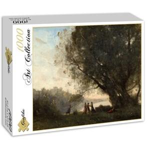 """Grafika (01966) - Jean-Baptiste-Camille Corot: """"Danse sous les Arbres au Bord du Lac, 1865-1870"""" - 1000 pièces"""