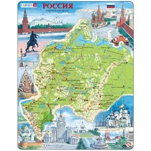 """Larsen (K64) - """"Carte de la Russie de l'Ouest (en Russe)"""" - 81 pièces"""