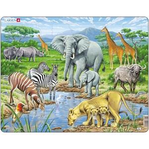 """Larsen (FH9) - """"Les Animaux de la Savane Africaine"""" - 65 pièces"""