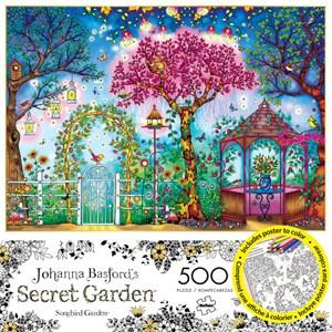 """Buffalo Games (3843) - Johanna Basford: """"Songbird Garden"""" - 500 pièces"""